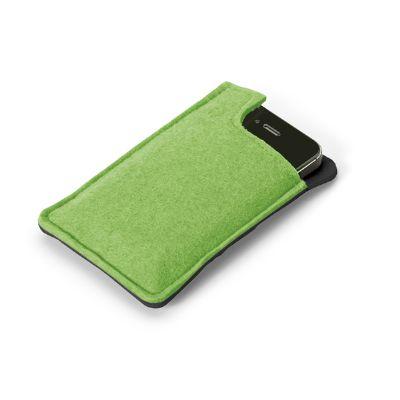 Brindes Play - Porta-celular em feltro personalizada.