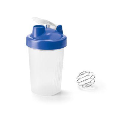 Brindes Play - Shaker de plástico com escala de medição em ml e fl oz. Capacidade: 550 ml