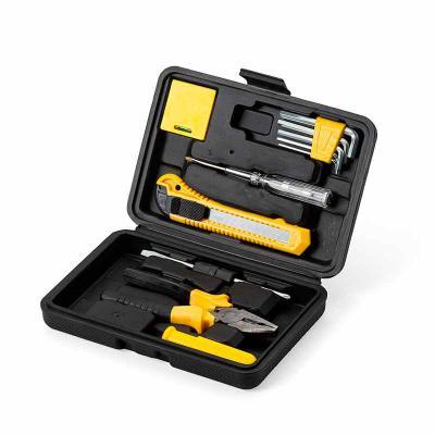 Brindes Play - Kit ferramenta com 11 peças em estojo plástico. Maleta plástica com detalhe retangular no centro frontal e verso com o detalhe na lateral inferior, po...