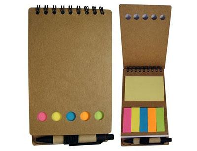 Brindes Play - Bloco de anotação e caneta.