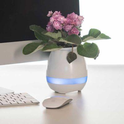 Brindes Play - Caixa de Som Vaso com Sensor e Bluetooth