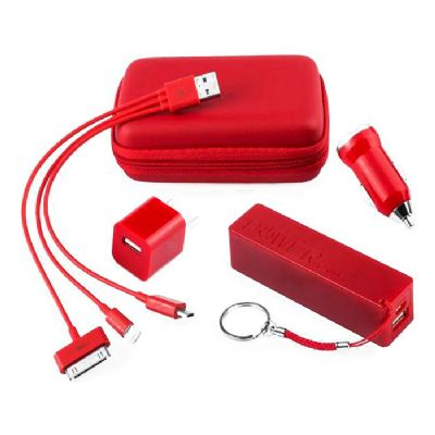 Brindes Play - Kit Carregador Portátil personalizado