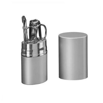 BrinClass - Kit manicure com 6 peças em tubinho de metal.