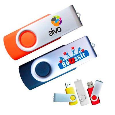 brindes-play - Pen drive giratório personalizado