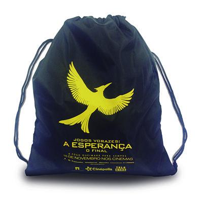 Águia Promocional - Mochila saco personalizada.