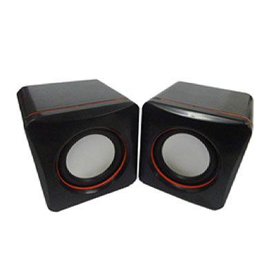 Topy 10 Brindes - Caixinha de som de plástico resistente com cabo USB. Canais auto falantes multimidia 2.0, controle de volume na própria caixa e frequencia 90Hz-20KHz....