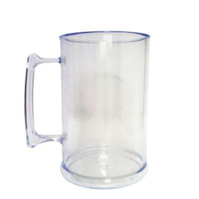 topy-10-brindes - Caneca de 500 ml com acrílico transparente.