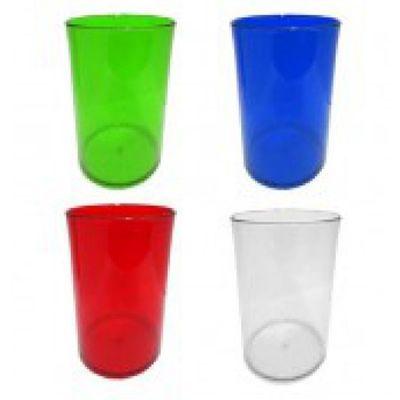 Topy 10 Brindes - Copo acrílico transparente, capacidade de 350 ml.