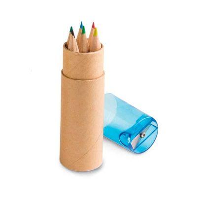 Topy 10 Brindes - Caixa de cartão com 6 lápis de cor