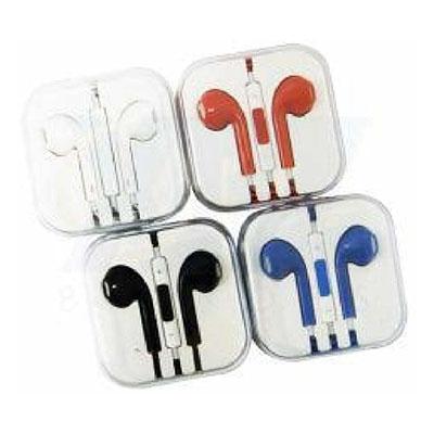 Topy 10 Brindes - Fone de ouvido em caixinha acrílica, com controle de volume e microfone. Nas cores – vermelho, preto, branco e azul. Tamanho total:  6,0 cm x 6,0 cm P...