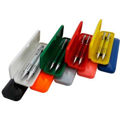 topy-10-brindes - Conjunto caneta e lapiseira semi-metal