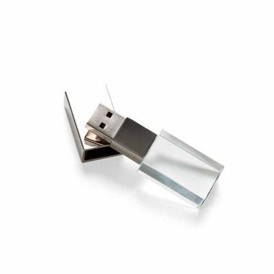 3RC Brindes - Pen drive de vidro
