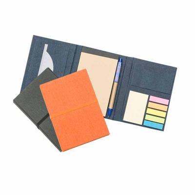 3RC Brindes - Bloco de anotações dobrável com sticky notes com porta caneta