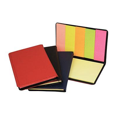 3RC Brindes - Bloco de anotação com sticky notes colorido.