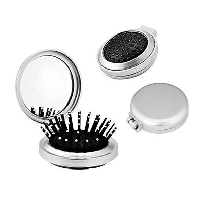 3RC Brindes - Escova com espelho de material plástico.
