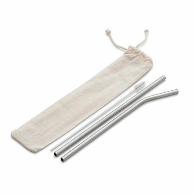 Diferente Mente Brindes - Kit Canudo em aço inox com 03 peças: canudo reto, canudo curvo, escova para limpeza. * Pode ser vendido separadamente