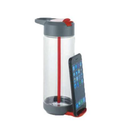Diferente Mente Brindes - Squeeze com suporte para celular retrátil. Capacidade até 750 ml. Food grade. Tamanho: ø75 x 222 mm