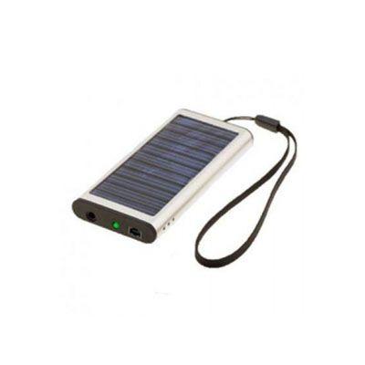 diferente-mente-brindes - Carregador solar com cabo USB. Carrega diversos equipamentos eletrônicos.
