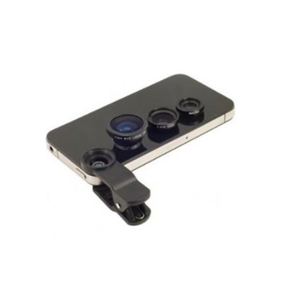 Diferente Mente Brindes - Conjunto Universal com 3 lentes para celulares