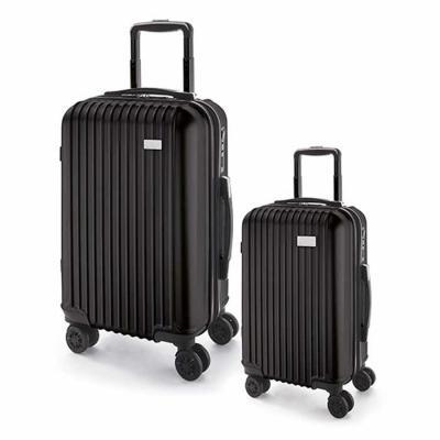Diferente Mente Brindes - Conjunto de 2 malas de viagem executivo. ABS e PET. Interior forrado, com divisória. 4 rodas duplas giratórias. Pega extensível em alumínio, com mola...