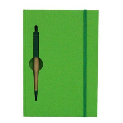 Brindes e Ideias - Bloco de anotações e caneta.