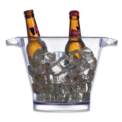 Energia Brindes - Balde de gelo para cerveja personalizado de acrílico e capacidade para 4 litros.