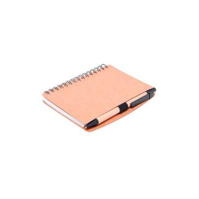Energia Brindes - Bloco de anotações personalizado, espiral com 70 folhas.