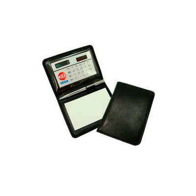 Energia Brindes - Calculadora Personalizada em lindo estojo, acompanha bloco de anotações e caneta