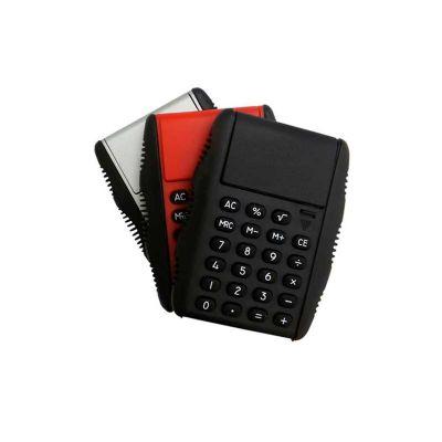 Energia Brindes - Calculadora personalizada, em plástico resistente, cores variadas e impressão da logomarca em tampografia