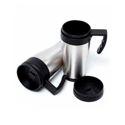 Energia Brindes - Caneca térmica personalizada em alumínio com alça de mão.