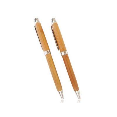 energia-brindes - Caneta personalizada ecológica de bambu, detalhes de metal. É o brinde personalizado ideal para seu evento.