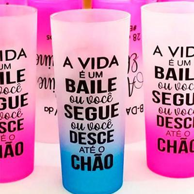 Energia Brindes - COPO LONG DRINK JATEADO  CAPACIDADE: 300 ml TIPO DE GRAVAÇÃO: Silkscreen