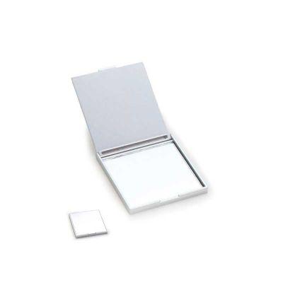 energia-brindes - Espelho personalizado, quadrado de bolso em plástico metalizado e resistente.