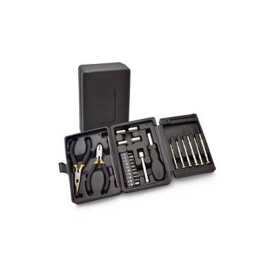 Energia Brindes - Jogo de ferramentas personalizado com 25 peças e impressão da logo em silk.
