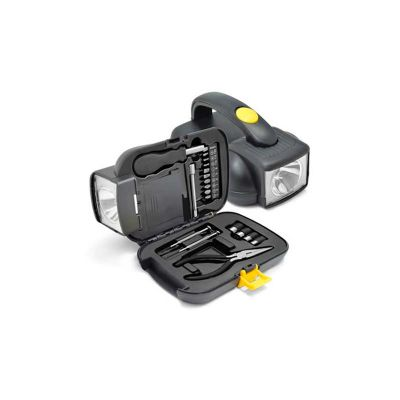 energia-brindes - Jogo de ferramentas personalizado com lanterna.
