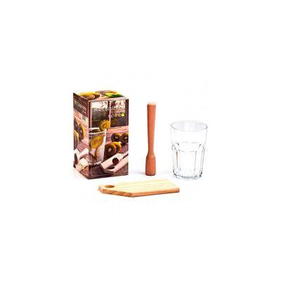 energia-brindes - Kit caipirinha personalizado 3 peças.