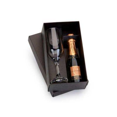 Energia Brindes - Kit champagne personalizado com taças.
