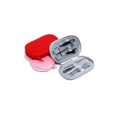 Energia Brindes - Kit manicure personalizado com 7 peças em estojo de couro.