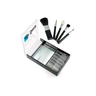 Energia Brindes - Kit pincel personalizado em acrílico com 5 pinceis e espelho.