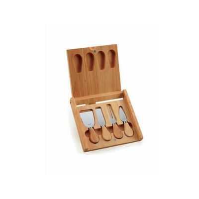 Energia Brindes - Kit queijo personalizado com 5 peças.