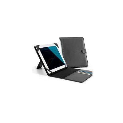 Energia Brindes - Pasta para tablet, couro sintético e personalização da logomarca em baixo relevo