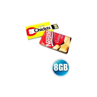 Energia Brindes - Mini pen drive cartão, capacidade 8GB, impressão digital da logomarca. Produto embalado individualmente em sacos plásticos