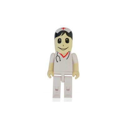 Energia Brindes - Pen drive Promocional em formato de enfermeiro. Impressão da logomarca em tampografia em até 02 cores. Produto embalado individualmente em sacos plást...