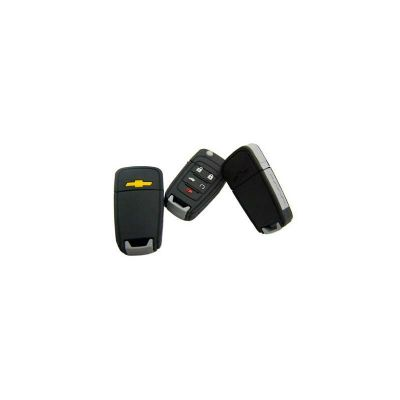 Energia Brindes - Pen drive Emborrachado personalizado. Formato de chave de carro, capacidade de 4GB. Produto embalado individualmente em saquinhos pl�stico