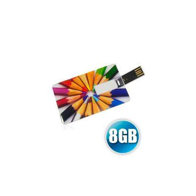 energia-brindes - Pencard capacidade 8GB, garantia de 05 anos na memória. Impressão digital da logomarca. Produto embalado individualmente em sacos plásticos