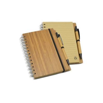 Energia Brindes - Bloco de Anotações com Capa de Bambu