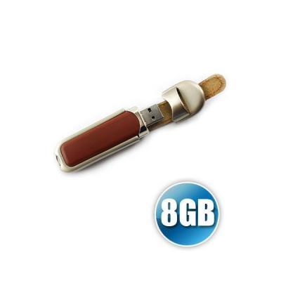 Energia Brindes - Pen drive de couro 8GB Personalizado