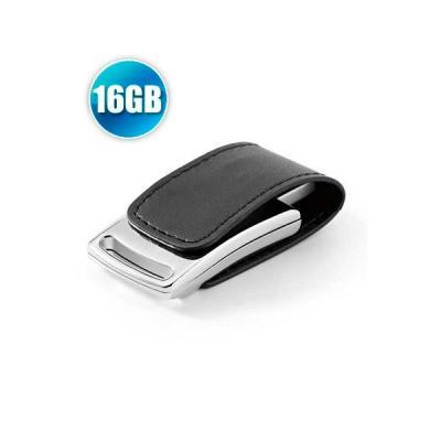 energia-brindes - Pen drive 16 GB em Couro com Imã para Brindes