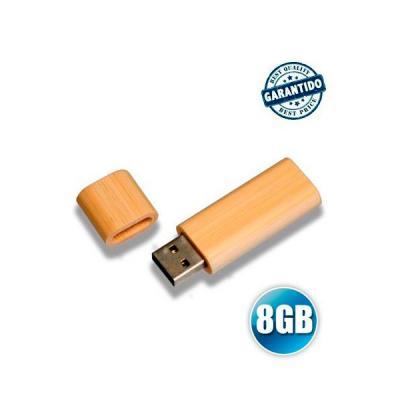 energia-brindes - Pen drive 8 GB de Bambu Personalizado