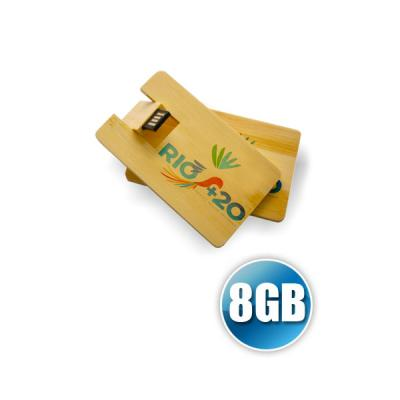 energia-brindes - Pen Card 8GB Madeira Personalizado